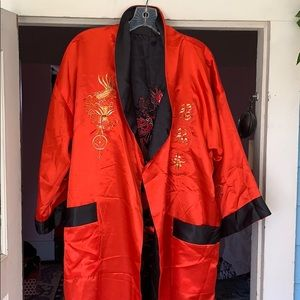Other - Reversible embroidered robe